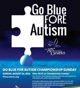 Poster-Go Blue for Autism partial